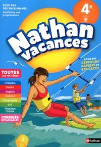 Dominik Manns et Olivier Revil - Nathan Vacances Toutes les matières de la 4e vers la 3e.