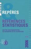 Dominique Allain et François Ancel - Répères et références statistiques sur les enseignements, la formation et la recherche.