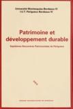 Dominique Audrerie - Patrimoine et développement durable - Septièmes Rencontres Patrimoniales de Périgueux.
