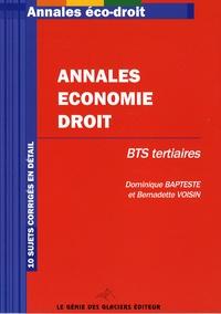 Histoiresdenlire.be Annales Economie-Droit BTS Tertiaires Image