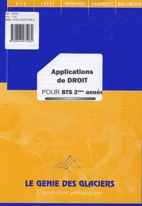 Dominique Bapteste et Bernadette Voisin - Applications de droit pour BTS 2e année.