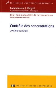 Dominique Berlin - Contrôle des concentrations.