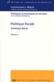 Dominique Berlin - Politique fiscale - Volume 2.
