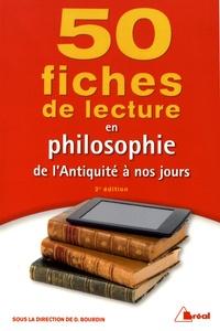 Dominique Bourdin - 50 fiches de lecture en philosophie de l'Antiquité à nos jours.
