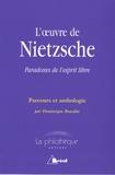 Dominique Bourdin - L'oeuvre de Nietzsche - Paradoxes de l'esprit libre.