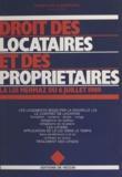 Dominique Caizergues - Droit des locataires et des propriétaires - La loi Mermaz du 6 juillet 1989.