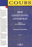 Dominique Chagnollaud - Droit constitutionnel contemporain - Tome 3, La Ve République.