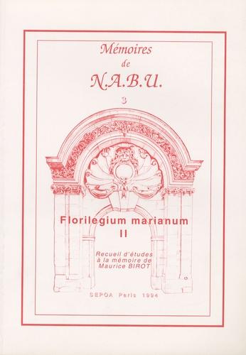 Dominique Charpin et Jean-Pierre Durand - Florilegium marianum II - Recueil d'études à la mémoire de Maurice Birot.