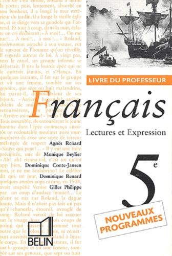 Francais 5eme Lectures Et Expression Livre Du Professeur