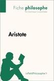Dominique Coutant-Defer et  LePetitPhilosophe.fr - Philosophe  : Aristote (Fiche philosophe) - Comprendre la philosophie avec lePetitPhilosophe.fr.