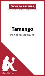 Dominique Coutant-Defer - Tamango de Prosper Mérimée - Fiche de lecture.
