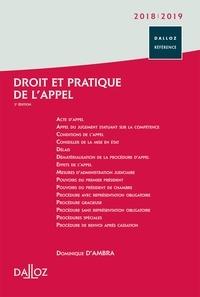 Dominique d' Ambra - Droit et pratique de l'appel.