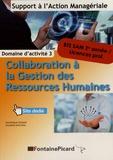 Dominique Dumas et Maryline Malaval - Collaboration à la gestion des ressources humaines BTS SAM 2e année / Licences pro - Domaine d'activité 3.