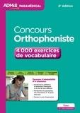 Dominique Dumas - Concours orthophoniste - 4000 exercices de vocabulaire.