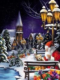Dominique Evangelisti - Calendrier de l'Avent, le Père Noël se prépare.
