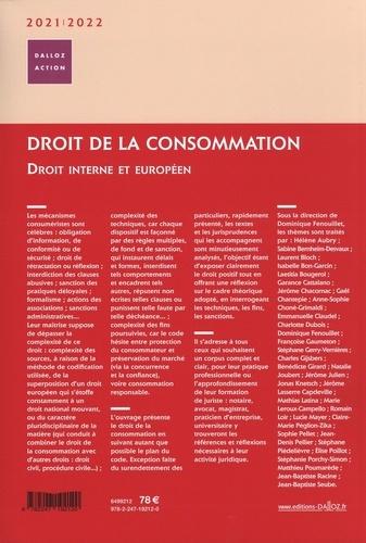 Droit de la consommation. Droit interne et européen  Edition 2021-2022