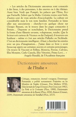 Dictionnaire amoureux de l'Italie. Tome 1, de A à M