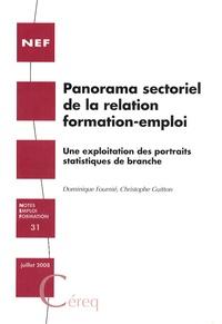 Dominique Fournié et Christophe Guitton - Panorama sectoriel de la relation formation-emploi - Une exploitation des portraits statistiques de branche.