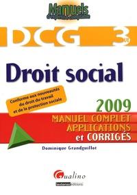 Dominique Grandguillot - DCG 3 Droit social.
