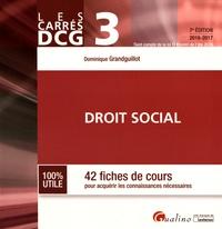 Dominique Grandguillot - DCG 3 Droit social - 42 fiches de cours pour acquérir les connaissances nécessaires.