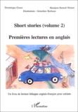 Dominique Groux et Marijana Benesh Weimer - Short stories : Premières lectures en anglais - Volume 2.