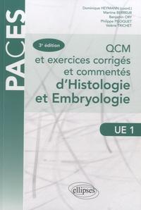 QCM et exercices corrigés et commentés d'histologie et d'embryologie- UE 1 - Dominique Heymann pdf epub