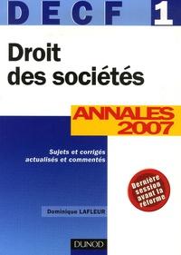 Accentsonline.fr Droit des Sociétés DECF 1 - Annales 2007, Corrigés commentés Image