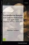 Dominique Lagorgette - Les insultes en français : de la recherche fondamentale à ses applications - (linguistique, littérature, histoire, droit).
