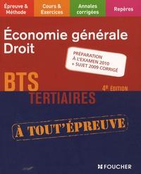 Economie générale Droit BTS Tertiaires - Dominique Lemoine |