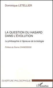 Goodtastepolice.fr La question du hasard dans l'évolution. - La philosophie à l'épreuve de la biologie Image