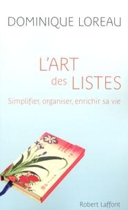 Meilleur livre gratuit à télécharger L'art des listes  - Simplifier, organiser, enrichir sa vie