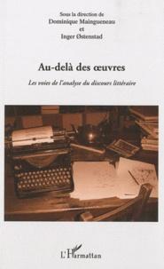 Galabria.be Au-delà des oeuvres - Les voies de l'analyse du discours littéraire Image