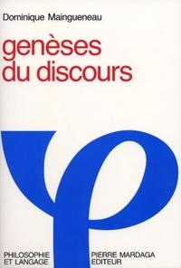 Dominique Maingueneau - Genèse du discours.