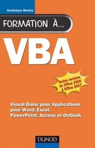 Dominique Maniez - Formation à VBA - 2e éd..