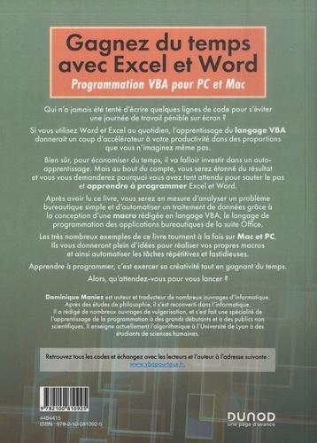 Gagnez du temps avec Excel et Word. Programmation VBA pour Mac et PC