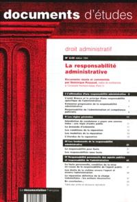 Dominique Pouyaud - LA RESPONSABILITE ADMINISTRATIVE.