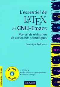 Galabria.be L'essentiel de Latex et GNU-Emacs. Manuel de réalisation de documents scientifiques, avec un CD-Rom Image