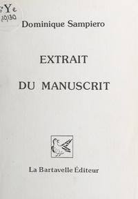 Dominique Sampiero et Michel Le Sage - Extrait du manuscrit.