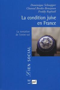 Dominique Schnapper et Chantal Bordes-Benayoun - La condition juive en France - La tentation de l'entre-soi.