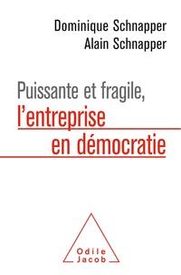 Dominique Schnapper et Alain Schnapper - Puissante et fragile, l'entreprise en démocratie.