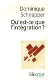 Dominique Schnapper - Qu'est-ce que l'intégration ?.