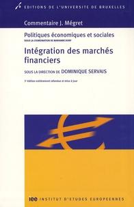 Dominique Servais - Intégration des marchés financiers.