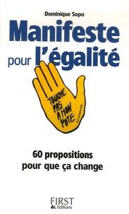 Dominique Sopo - Manifeste pour l'Egalité.