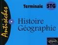 Dominique Tanet et Catherine de Crémiers - Histoire-Géographie - Terminale STG.