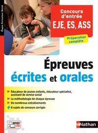 Dominique Tuetey-Soucasse - Concours d'entrée EJE, ES, ASS - Epreuves écrites et orales.