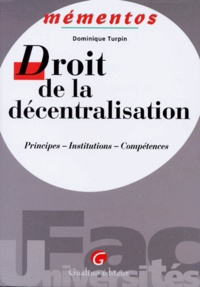 Checkpointfrance.fr DROIT DE LA DECENTRALISATION. Principes, insttitutions, compétences Image