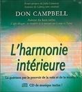 Don Campbell - L'harmonie intérieure - La guérison par le pouvoir de la voix et de la musique. 1 CD audio