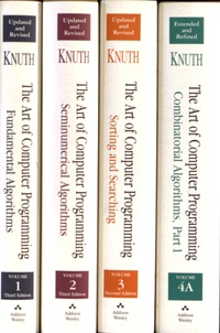 Donald Knuth - The Art of Computer Programming - 4 volumes.
