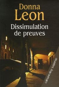 Télécharger l'ebook pour itouch Dissimulation de preuves (Litterature Francaise) par Donna Leon 9782702137512