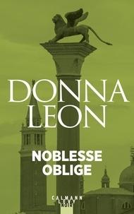 Ebooks gratuits en anglais télécharger pdf Noblesse oblige (French Edition) par Donna Leon 9782702165126